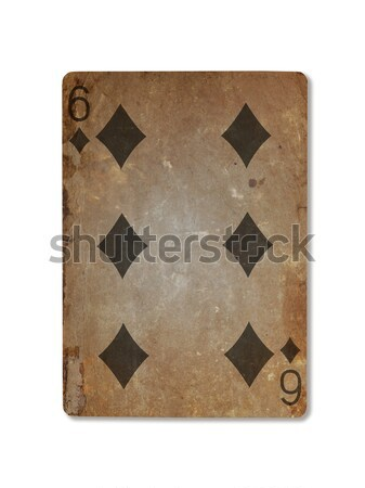 古い 演奏 カード 王 スペード 孤立した ストックフォト © michaklootwijk