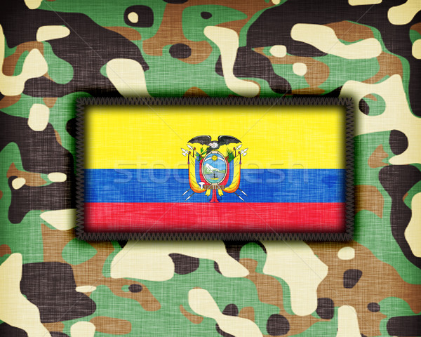 Camouflage uniform Ecuador vlag textuur abstract Stockfoto © michaklootwijk