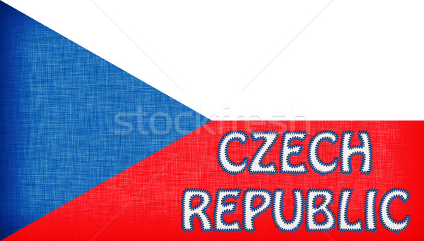 Flag of the Czech Republic stitched with letters Stock photo © michaklootwijk