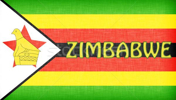 Linen flag of Zimbabwe Stock photo © michaklootwijk