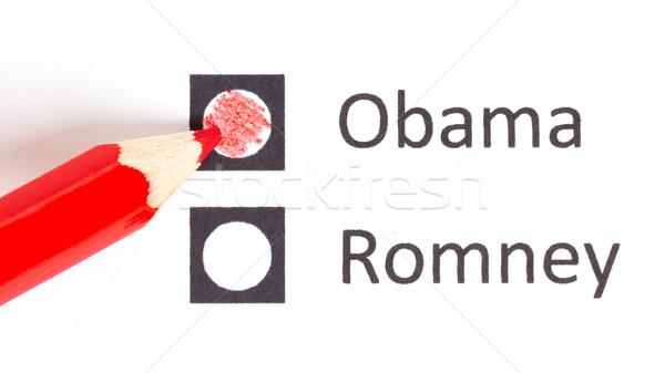 Rood potlood kiezen volgende president verkiezing Stockfoto © michaklootwijk