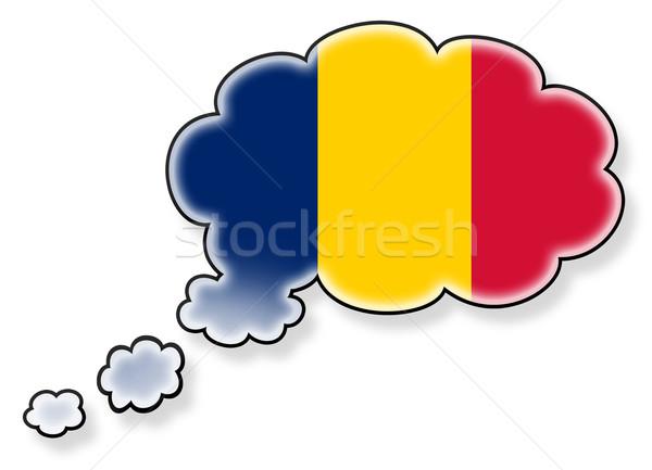 Vlag wolk geïsoleerd witte Roemenië kunst Stockfoto © michaklootwijk