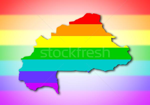 Rainbow flag pattern - Burkina Faso Stock photo © michaklootwijk