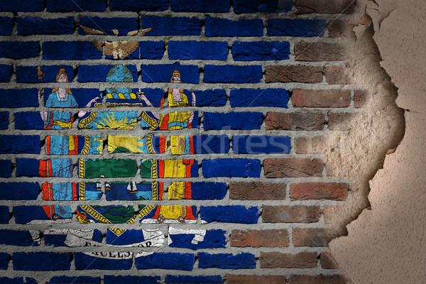 Sombre mur de briques plâtre New York texture pavillon Photo stock © michaklootwijk