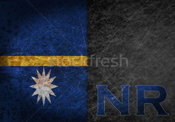 старые ржавые металл знак флаг стране Сток-фото © michaklootwijk