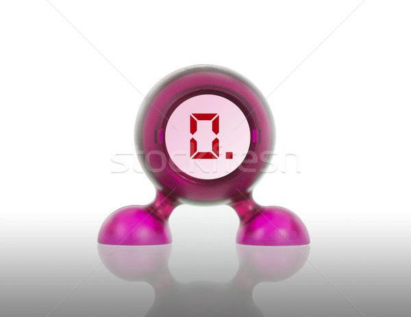 Small pink plastic object with a digital display Stock photo © michaklootwijk