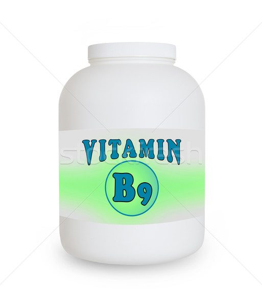 Vitamin B9 container Stock photo © michaklootwijk