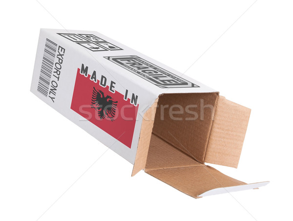экспорт продукт Албания бумаги окна Сток-фото © michaklootwijk
