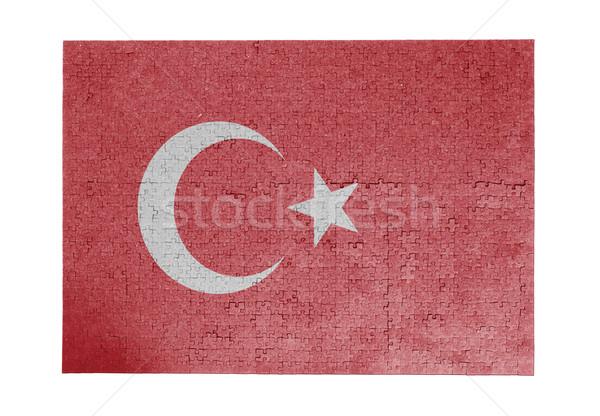 Nagy kirakós játék 1000 darabok Törökország zászló Stock fotó © michaklootwijk