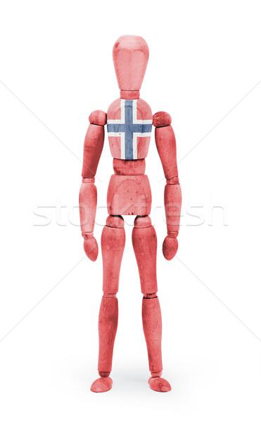 Wood figure mannequin with flag bodypaint - Norway Stock photo © michaklootwijk