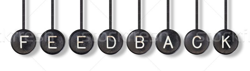 Typewriter buttons, isolated - Feedback Stock photo © michaklootwijk