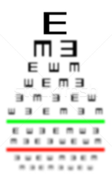 зрение плохо испытание диаграммы очки Сток-фото © michaklootwijk