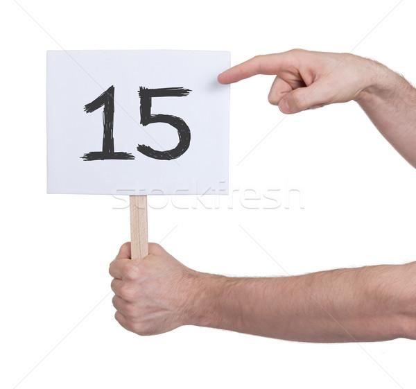 Teken aantal 15 geïsoleerd witte business Stockfoto © michaklootwijk