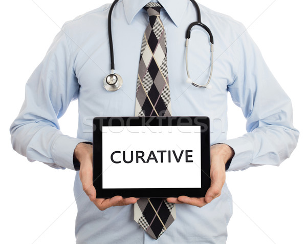 Doctor holding tablet - Curative Stock photo © michaklootwijk