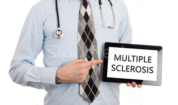 Médico tableta múltiple aislado blanco Foto stock © michaklootwijk