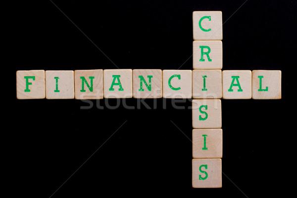 Harfler eski finansal kriz iş para Stok fotoğraf © michaklootwijk