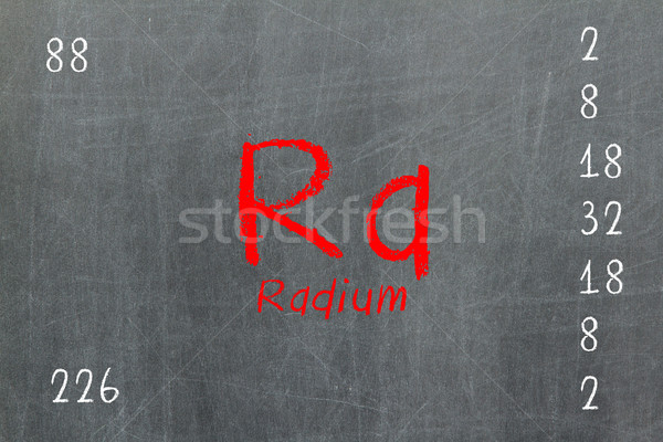 Isolated blackboard with periodic table, Radium Stock photo © michaklootwijk