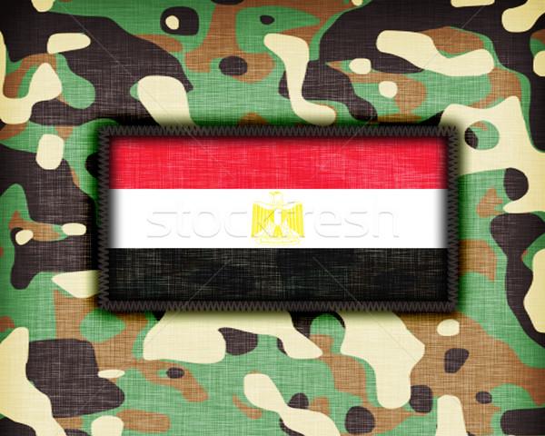 Uniforme Egito bandeira textura abstrato Foto stock © michaklootwijk