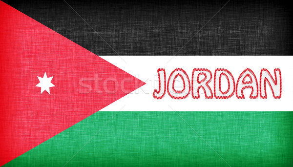 Linen flag of Jordan Stock photo © michaklootwijk