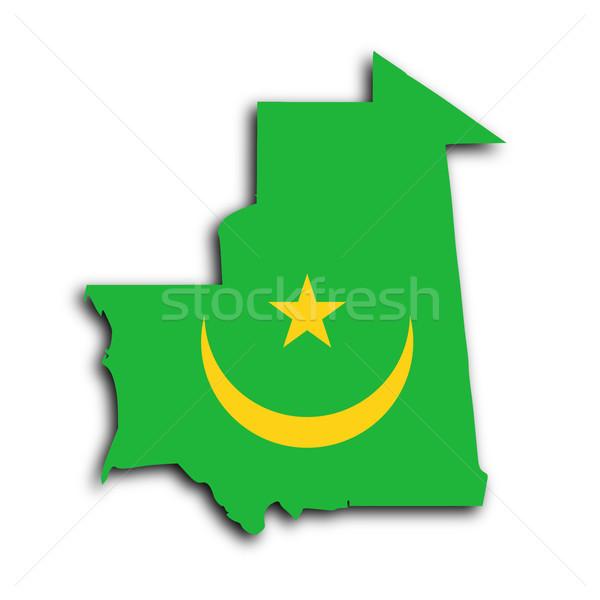 Map of Mauritania Stock photo © michaklootwijk