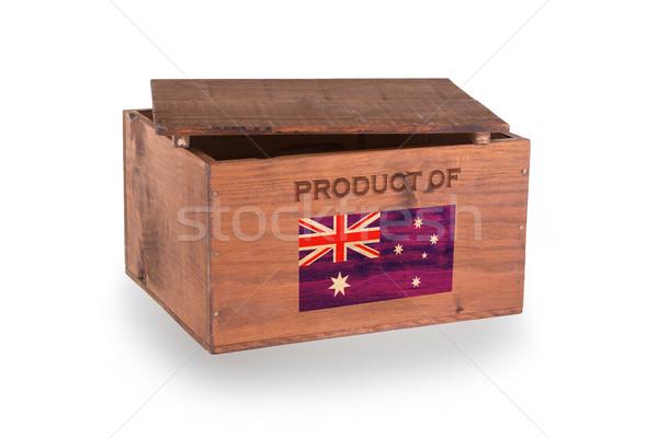 Stockfoto: Houten · geïsoleerd · witte · product · Australië