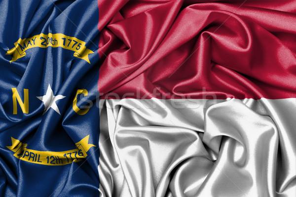 Cetim bandeira tridimensional tornar Carolina do Norte textura Foto stock © michaklootwijk