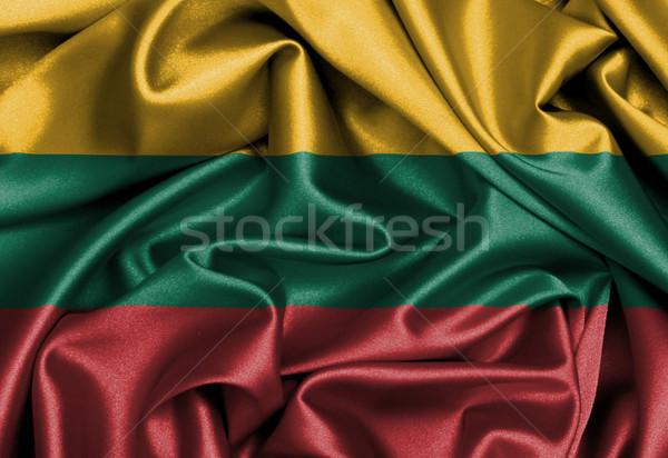 Satin pavillon Lituanie texture Photo stock © michaklootwijk