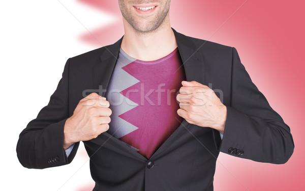 Stockfoto: Zakenman · opening · pak · shirt · vlag · Bahrein