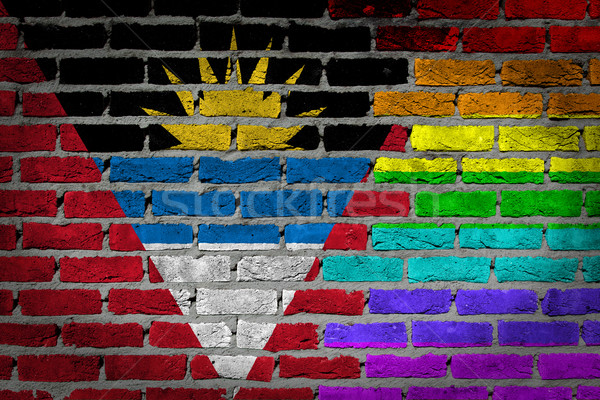 Dark brick wall - LGBT rights - Antigua and Barbuda Stock photo © michaklootwijk