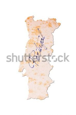 ポルトガル 古い紙 手書き 青 インク 旅行 ストックフォト © michaklootwijk