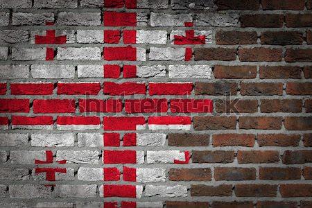 темно кирпичная стена правые Грузия текстуры флаг Сток-фото © michaklootwijk