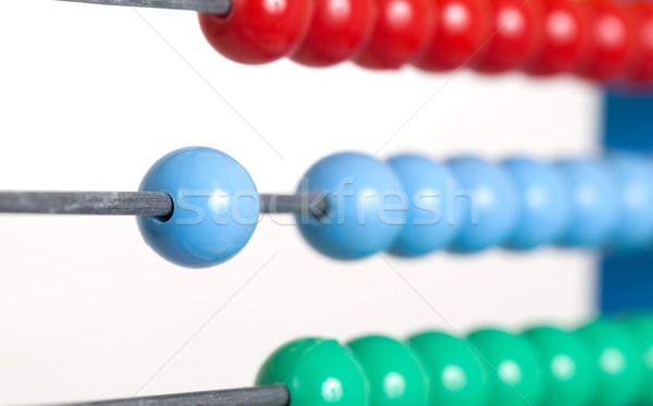 Közelkép színes abakusz szelektív fókusz öreg számológép Stock fotó © michaklootwijk