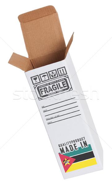 Exportar produto Moçambique papel caixa Foto stock © michaklootwijk