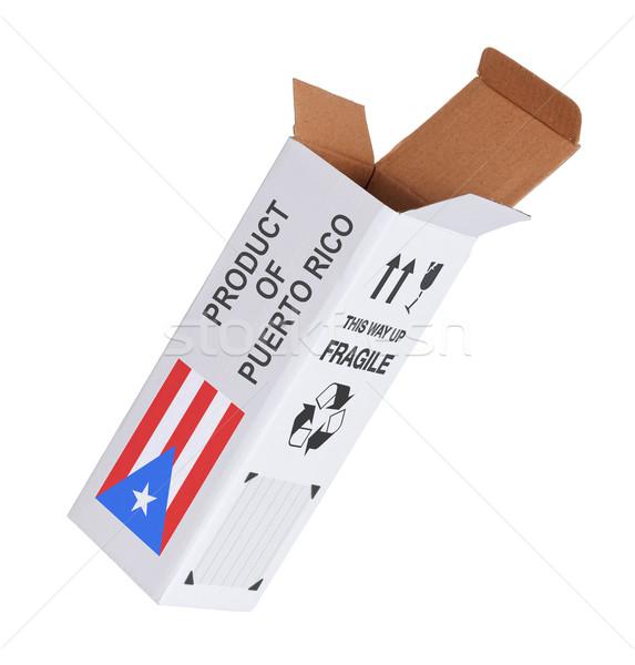 Esportazione prodotto Puerto Rico carta finestra Foto d'archivio © michaklootwijk