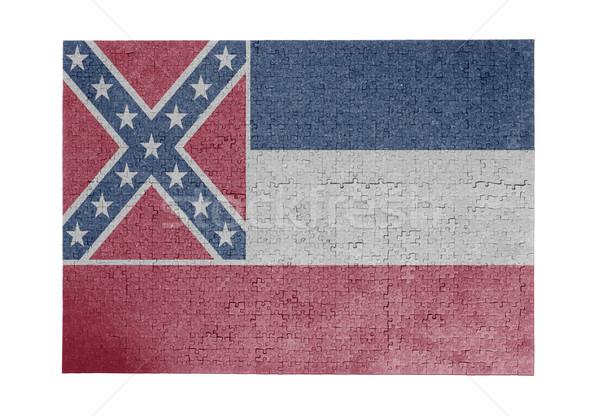 Nagy kirakós játék 1000 darabok Mississippi zászló Stock fotó © michaklootwijk