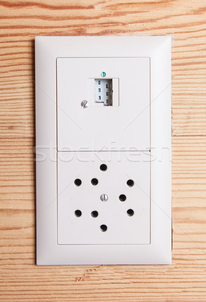 Power plug wall socket - Switzerland Stock photo © michaklootwijk