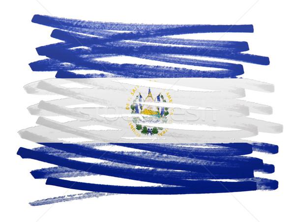Flag illustration - El Salvador Stock photo © michaklootwijk