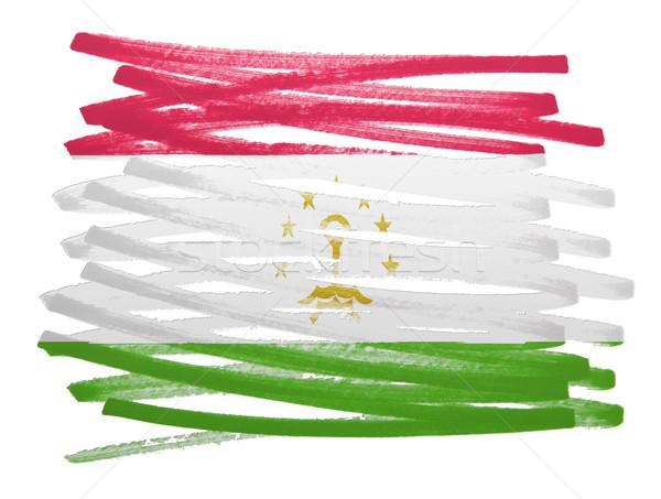 флаг иллюстрация Таджикистан пер бизнеса краской Сток-фото © michaklootwijk