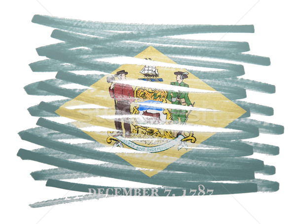 Bandeira ilustração Delaware caneta negócio pintar Foto stock © michaklootwijk