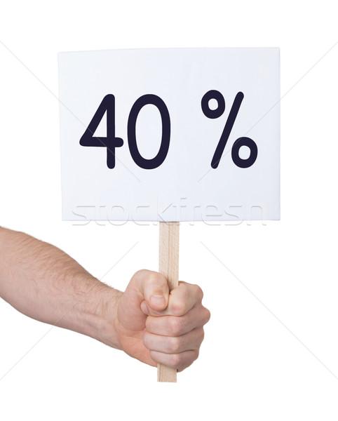 Vásár kéz tart 40 izolált fehér Stock fotó © michaklootwijk