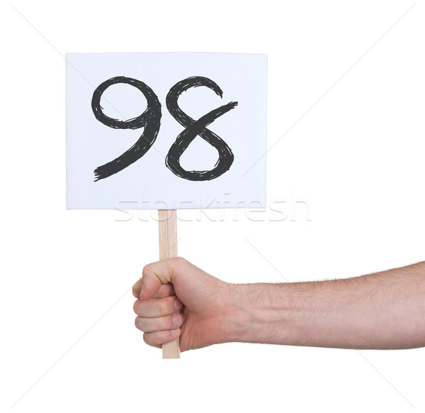 Sign with a number, 98 Stock photo © michaklootwijk