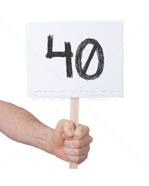 Sign with a number, 40 Stock photo © michaklootwijk