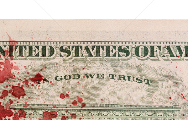 US one Dollar bill, close up, blood Stock photo © michaklootwijk