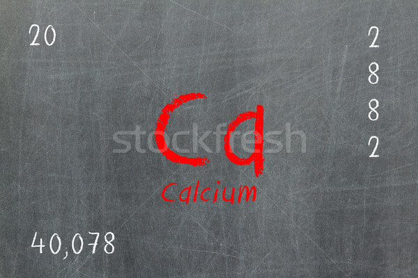 孤立した 黒板 周期表 カルシウム 化学 デザイン ストックフォト © michaklootwijk