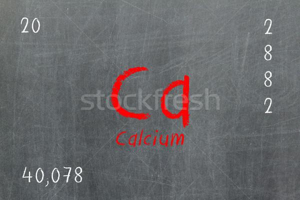 Yalıtılmış tahta kalsiyum kimya dizayn Stok fotoğraf © michaklootwijk