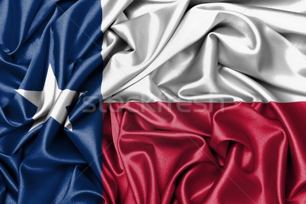 Cetim bandeira tridimensional tornar Texas fundo Foto stock © michaklootwijk
