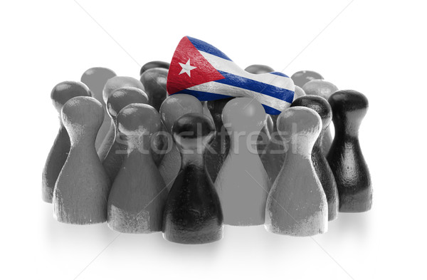 Uno unico pedone top bandiera Cuba Foto d'archivio © michaklootwijk
