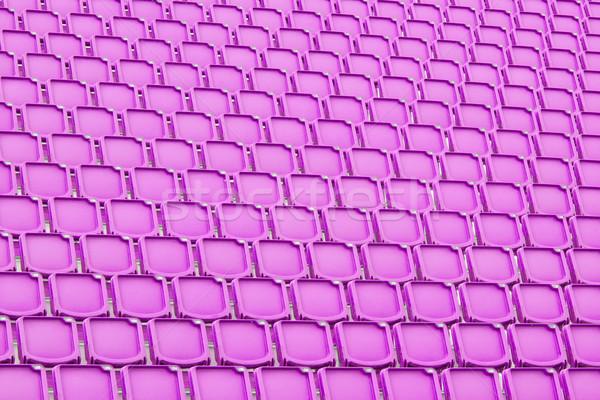 Purple seat in sport stadium Stock photo © michaklootwijk