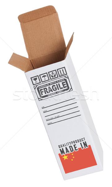 エクスポート 製品 中国 紙 ボックス ストックフォト © michaklootwijk
