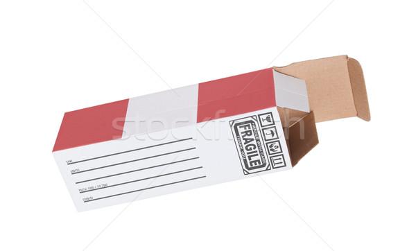 Exportar produto Peru papel caixa Foto stock © michaklootwijk